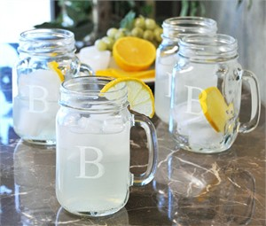 Personalized Drinking Jars