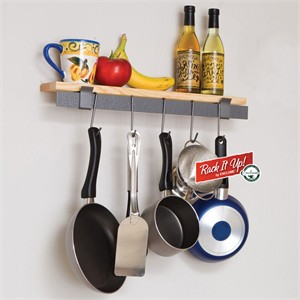 Rack It Up MPW-09 Wall Bar Pot Rack