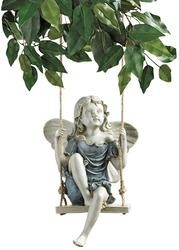 Summertime Fairy on a Swing Garden Statue