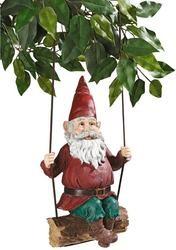 Sammy the Swinging Gnome Garden Statue
