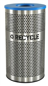 Excell VCR-33PERFSS Stainless Steel Recycling Bin