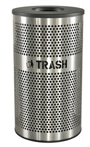 Excell VCT-33 PERF SS Venue Trash Receptacle