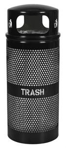 Ex-Cell WR-34R DM BLACK 34 Gallon Trash Receptacle