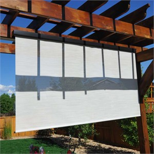 Cord Operated Exterior Solar Window Shade 8' Long