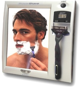 Zadro Z200 Fog Free Shower Mirror with LED Light & LCD Clock