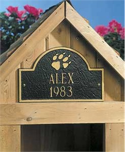 Whitehall 5015 Personalized Dog House Sign