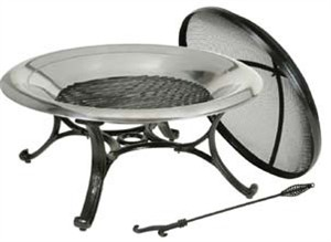 DeckMate 30139 Round Stainless Steel Fire Bowl