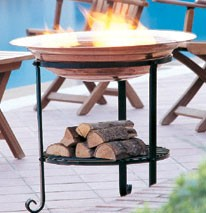 Copper Firepit on tall stand