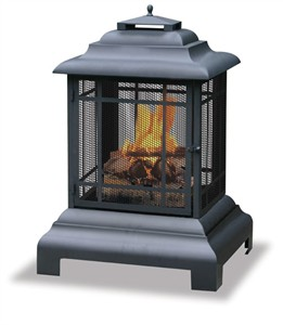 Uniflame WAF501CS Black Outdoor Firehouse
