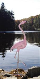 American Flamingo Handpainted Garden Statue
