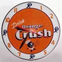 American Retro replica Orange Crush Double Bubble Electric Clock