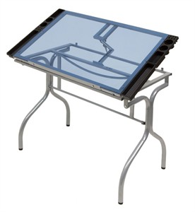 Folding Glass Top Craft Table