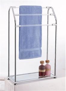 Freestanding Three Bar Towel Valet
