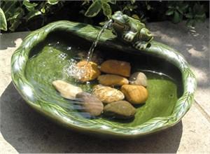 Glazed Ceramic Solar Water Feature