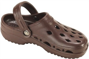 Womens NothinZ Chocolate Brown Rubber Clog