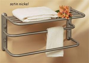 """Gatco 20"""" Hotel Style Towel Shelf"""