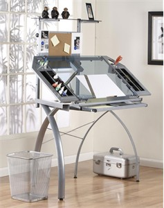 Glass Top Drawing Table