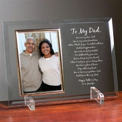 To My Dad Picture Frame with Personal Poem