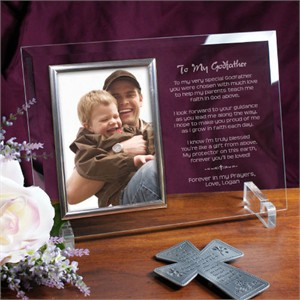 Godparent Gift Personalized Picture Frame