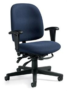 Global 3212 Granada Multifunction Low Back Tilter Office Chair