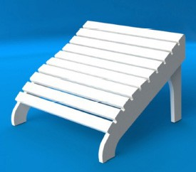 Footstool for Adirondack Shell Back Chair