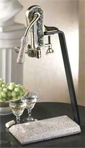 Rogar 0252 Estate Wine Opener on Desert Sand Granite Stand