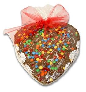 Heart Shape Chocolate Pizza