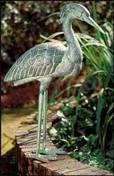 Cast Aluminum Heron Garden Statue