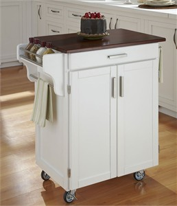 Home Styles Cuisine Cart with Cherry Top