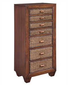 Homestyles 5402-47 Cabana Banana Lingerie Jewelry Cabinet