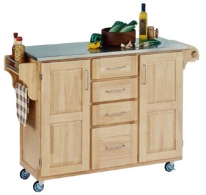 Homestyles 9100 Stainless Steel Top Kitchen Cart