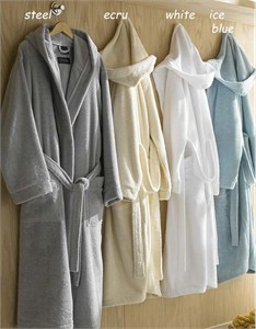 Hooded Turkish Cotton Resort Robe