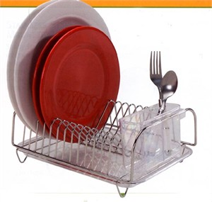 Stainless Steel Compact Dish Rack Set