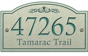 Arch Top Personalized Address Sign