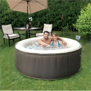 Four Person Inflatable Round Hot Tub
