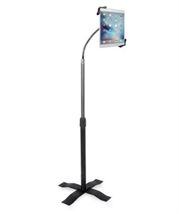 Height Adjustable Goose Neck Floor Stand for iPad
