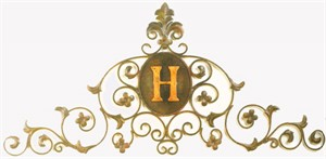 Monogrammed Iron Wall Grille