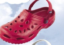 Womens NothinZ Plastic Ruby Red Clog
