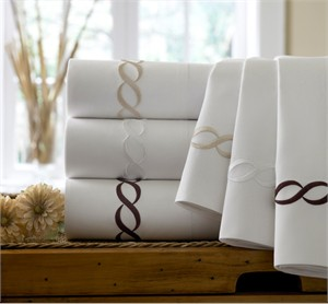 Kassatex Letto Cable Embroidery Sheet Set