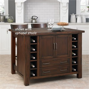 Kitchen Island with Pull Out Breakfast Bar