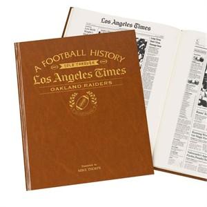 Personalized LA Times Football Headline Book