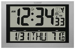 La Crosse Technology 513-1211 Atomic Digital Wall Clock
