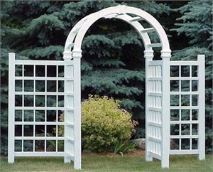 Dura Trel 11165 Grand Colonial Arbor with Wings