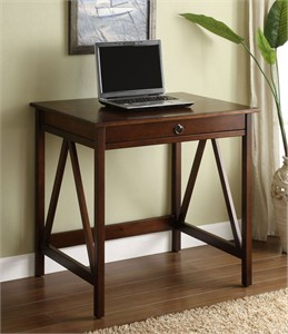 Linon 86155ATOB-01-KD-U Titian Laptop Desk