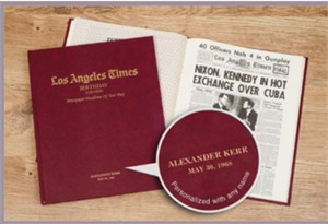 Los Angeles Times Birthday Newspaper