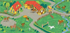 Horse Stable Play Carpet