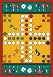 Parcheesi Learning Carpet