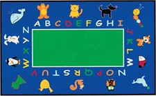 Childs Rug - Abc Animals Rectangle Small