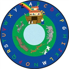Kids Rug - Noah's Ark Round Small