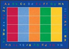Educational Rug - Abc Squares Rectangle Large